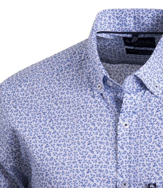 FORMEN overhemd met fijne bloemenprint