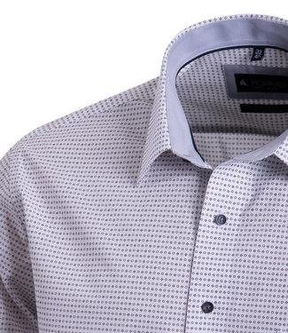 FORMEN keurig hemd met grijze motiefjes