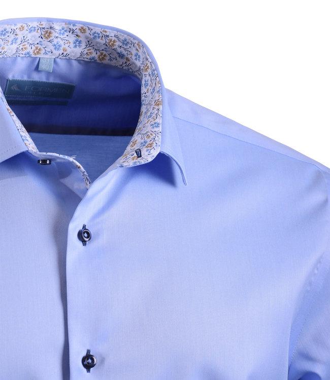 FORMEN lichtblauw regular fit overhemd twill - easy care