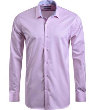 FORMEN roze twill overhemd - easy care