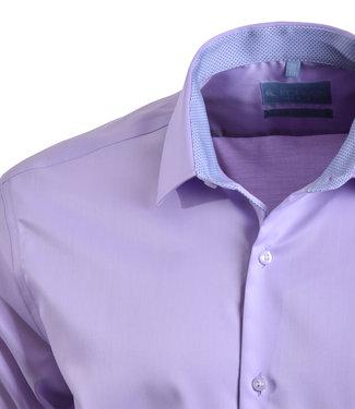 FORMEN lila overhemd - easy care katoen