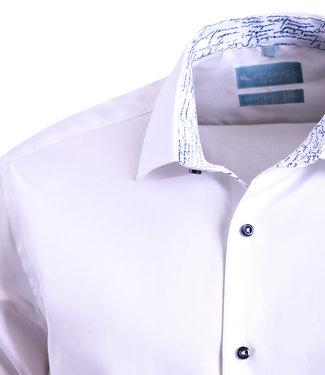 FORMEN piekfijn wit fit overhemd - easy care katoen