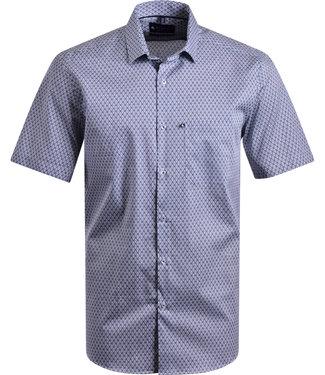 FORMEN hemd met donkerblauw tegel motief