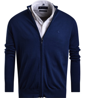 FORMEN donkerblauwe trui met rits