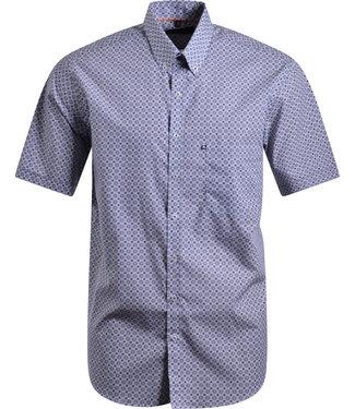 FORMEN hemd met donkerblauw motief