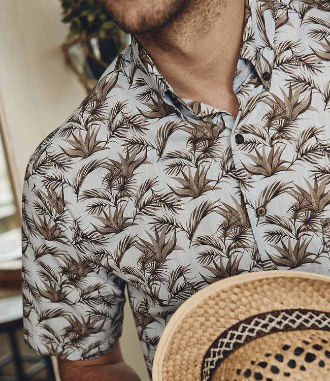 FORMEN shirt met jungle print