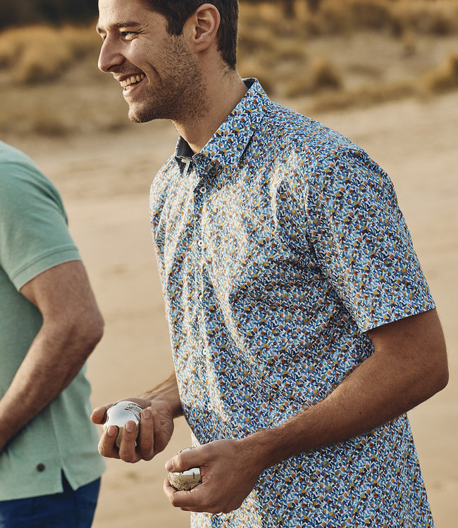 FORMEN zomers hemd met kleurrijk motief