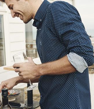 FORMEN navy hemd met anker motief - SLIM