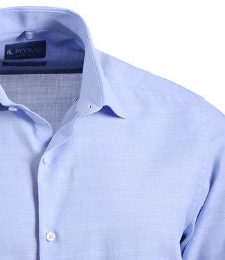 FORMEN effen lichtblauw hemd - SLIM