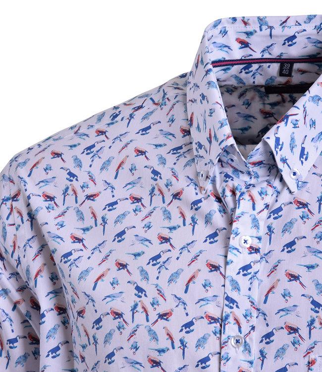 FORMEN hemd met tropical birds print