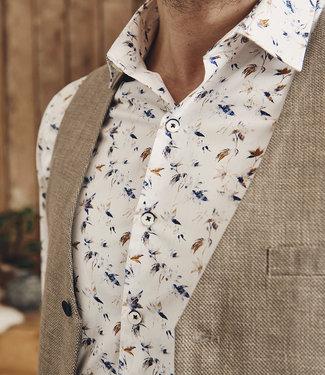 FORMEN feestelijk hemd met bijzonder motief - SLIM