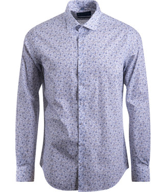 FORMEN chic hemd met fijne bloementekening - SLIM