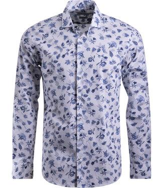 FORMEN knap designer shirt met bloemenprint - SLIM