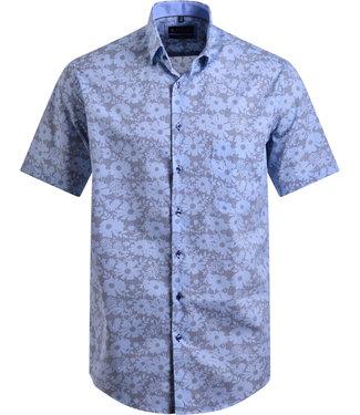FORMEN streep en print hemd