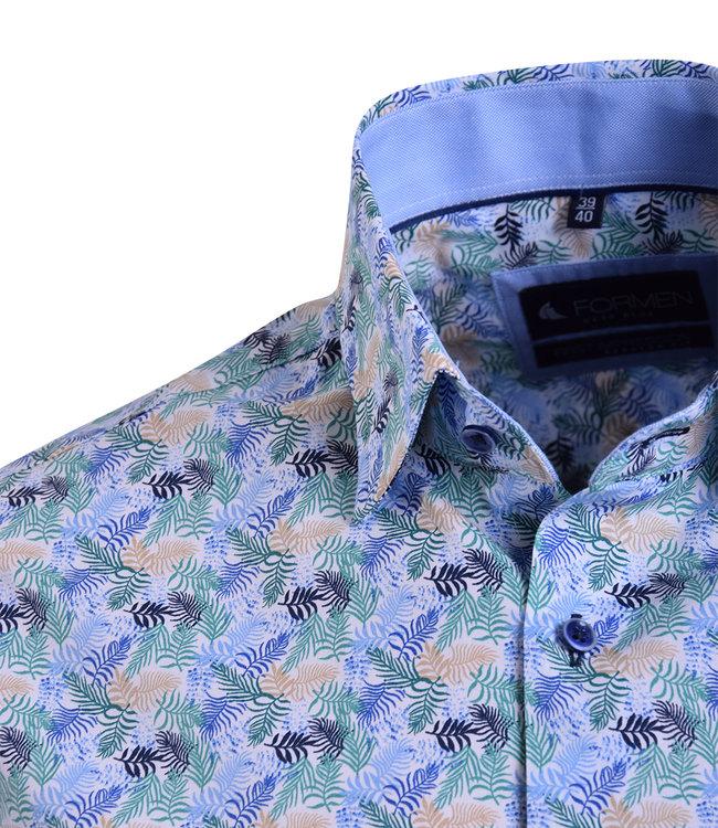 FORMEN kleurrijk hemd met tropical print