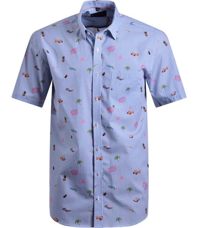 FORMEN zomerhemd met cocktail print