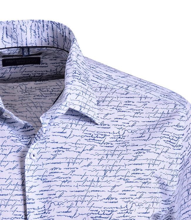 FORMEN wit hemd met schrijfsels