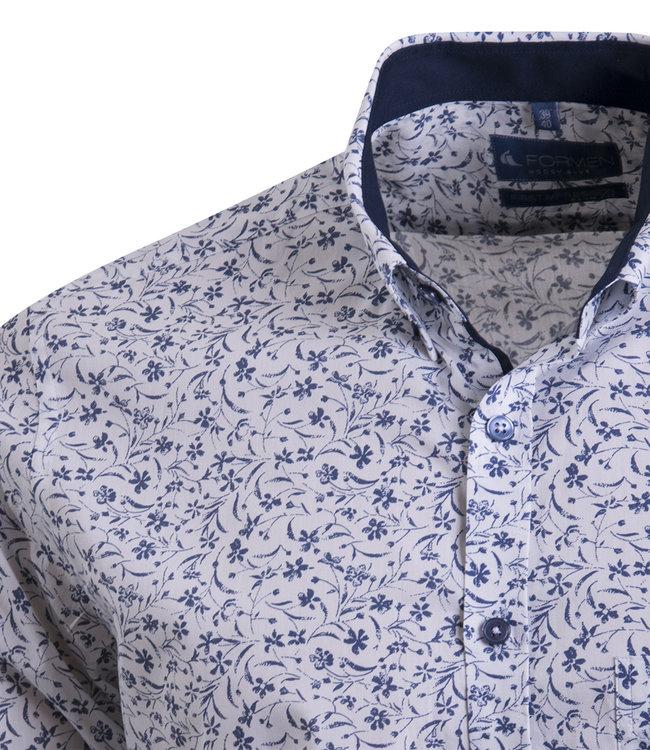 FORMEN hemd met florale print - SLIM