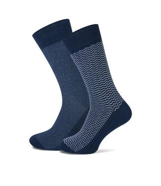FORMEN marine sokken met dessin  duopack = 2 paar