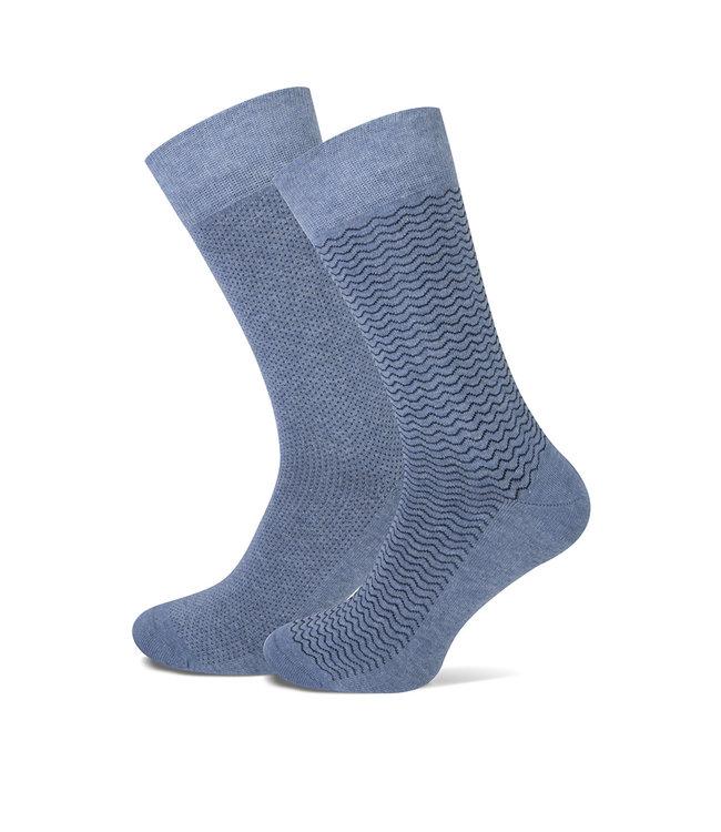 FORMEN jeans sokken met dessin  duopack = 2 paar