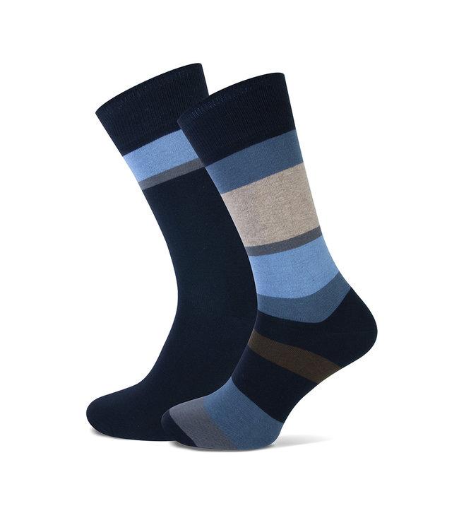 FORMEN sokken met brede streep duopack = 2 paar
