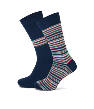 FORMEN multicolor sokken met strepen duopack = 2 paar