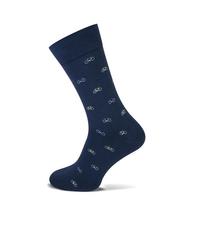 FORMEN marine sokken met fiets motiefjes   1 paar
