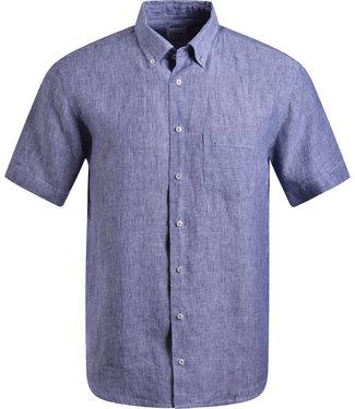 FORMEN navy gestreept hemd, 100% linnen