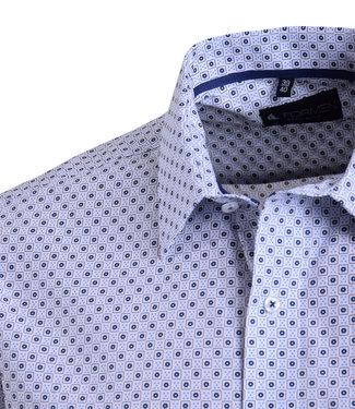 FORMEN fris hemd met blauw vrolijk motief