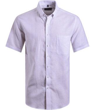 FORMEN wit hemd in luchtige linnen mix