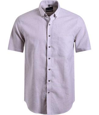 FORMEN beige hemd in luchtige linnen mix