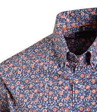 FORMEN zomers hemd met oranje accent