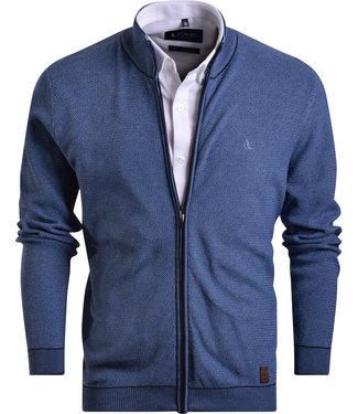 FORMEN vest in tweekleurig breisel
