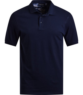 FORMEN navy polo met stretch