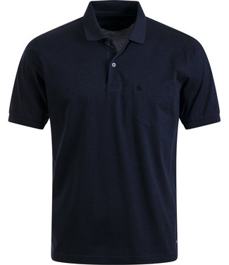 FORMEN polo in solide donkerblauw