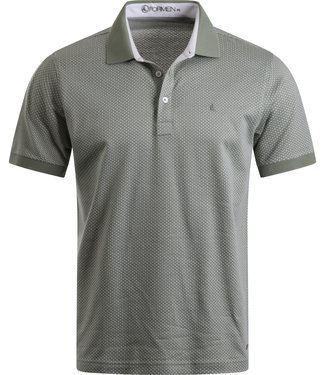 FORMEN zachtgroen poloshirt in soft cotton