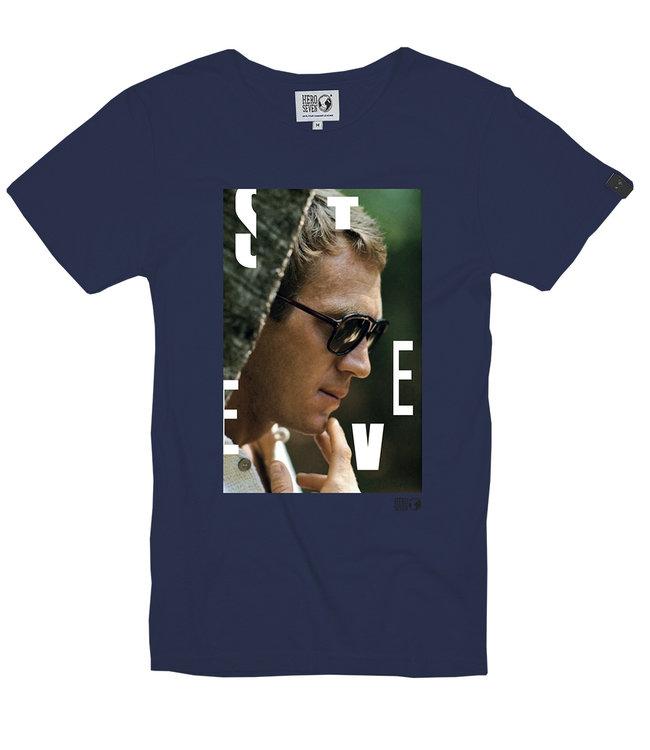 FORMEN blauw t-shirt met fotoprint