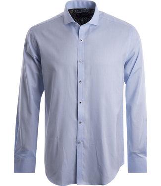 FORMEN gekleed lichtblauw effen hemd