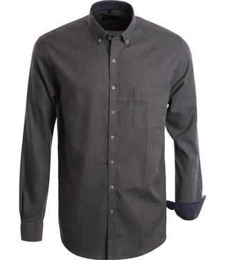FORMEN hemd met zwart witte structuurstof
