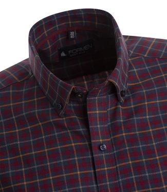 FORMEN flanellen hemd met ruiten in blauw, oker en warm rood