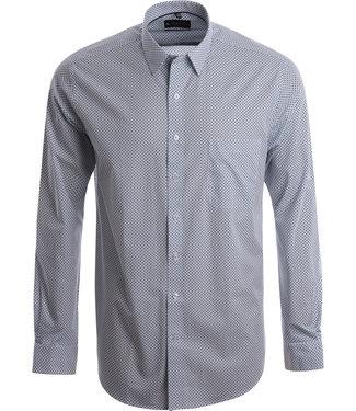 FORMEN fris hemd met fijne blauwe print