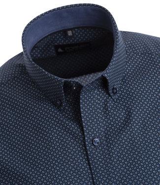 FORMEN donkerblauw hemd met kleine print