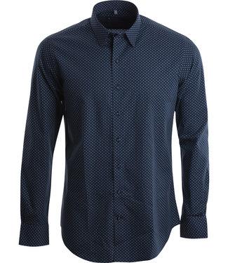 FORMEN blauw hemd met stervormige print