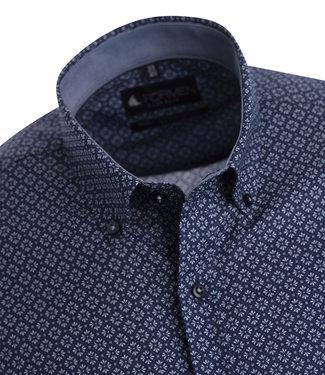 FORMEN stijlvol hemd met fris blauwe print
