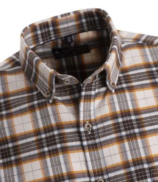 FORMEN warm en stoer hemd met prachtige ruit in bruine en beige tinten
