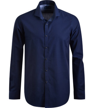 FORMEN stijlvol donkerblauw hemd  - SLIM