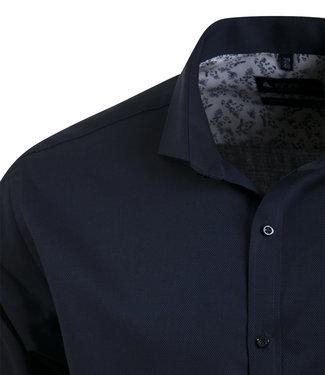 elegant donkerblauw hemd