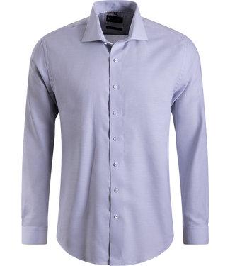 FORMEN lichtgrijs hemd met elegante kraag - Regular fit