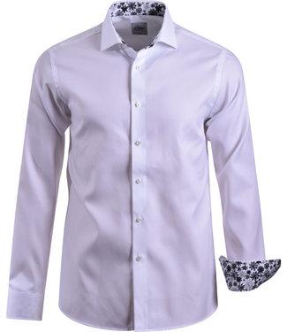 FORMEN effen wit premium hemd - SLIM