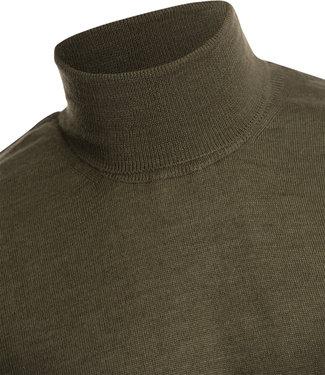 FORMEN trendy trui met rolkraag in khaki